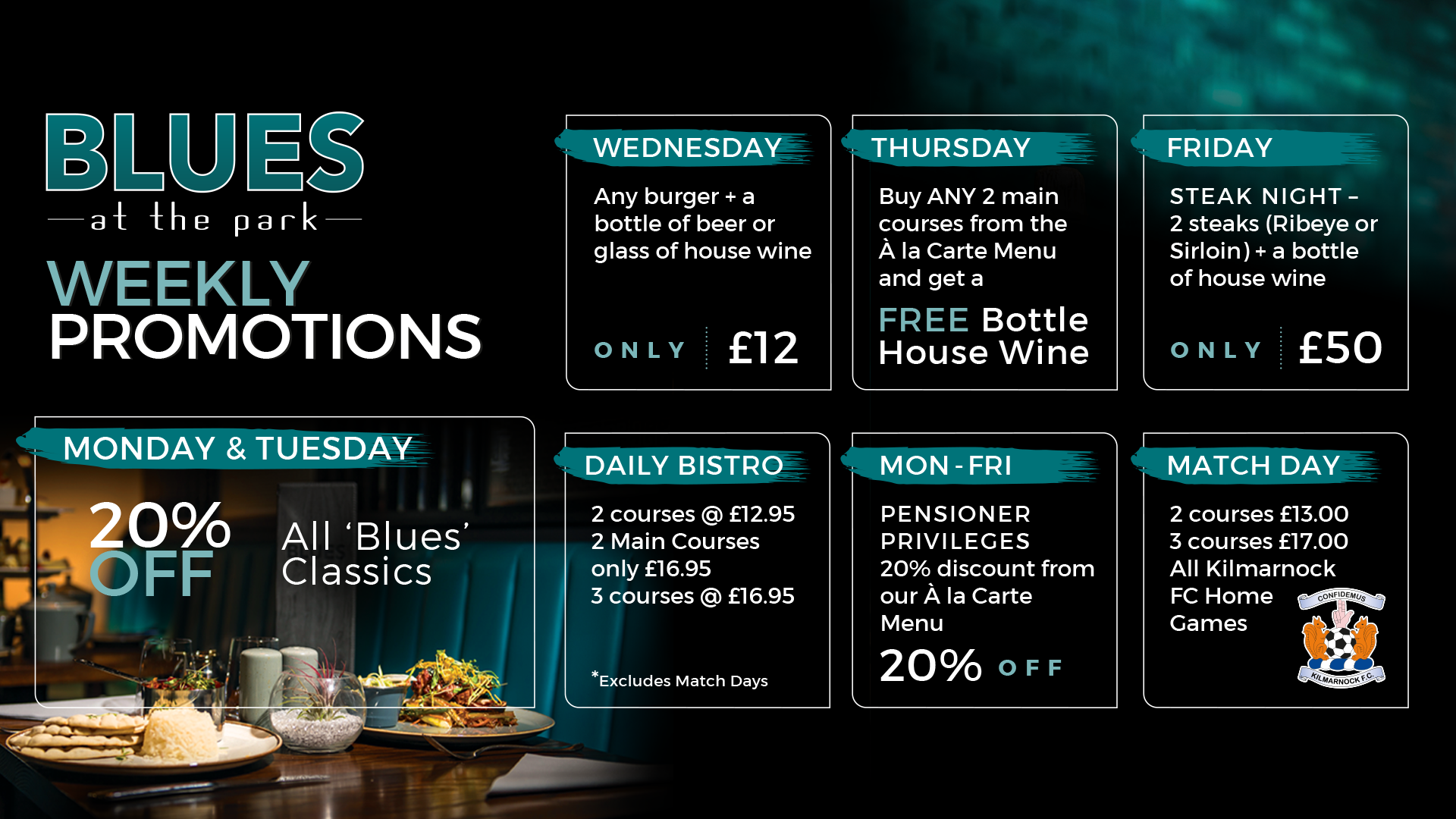 Blues Weekly Promotions