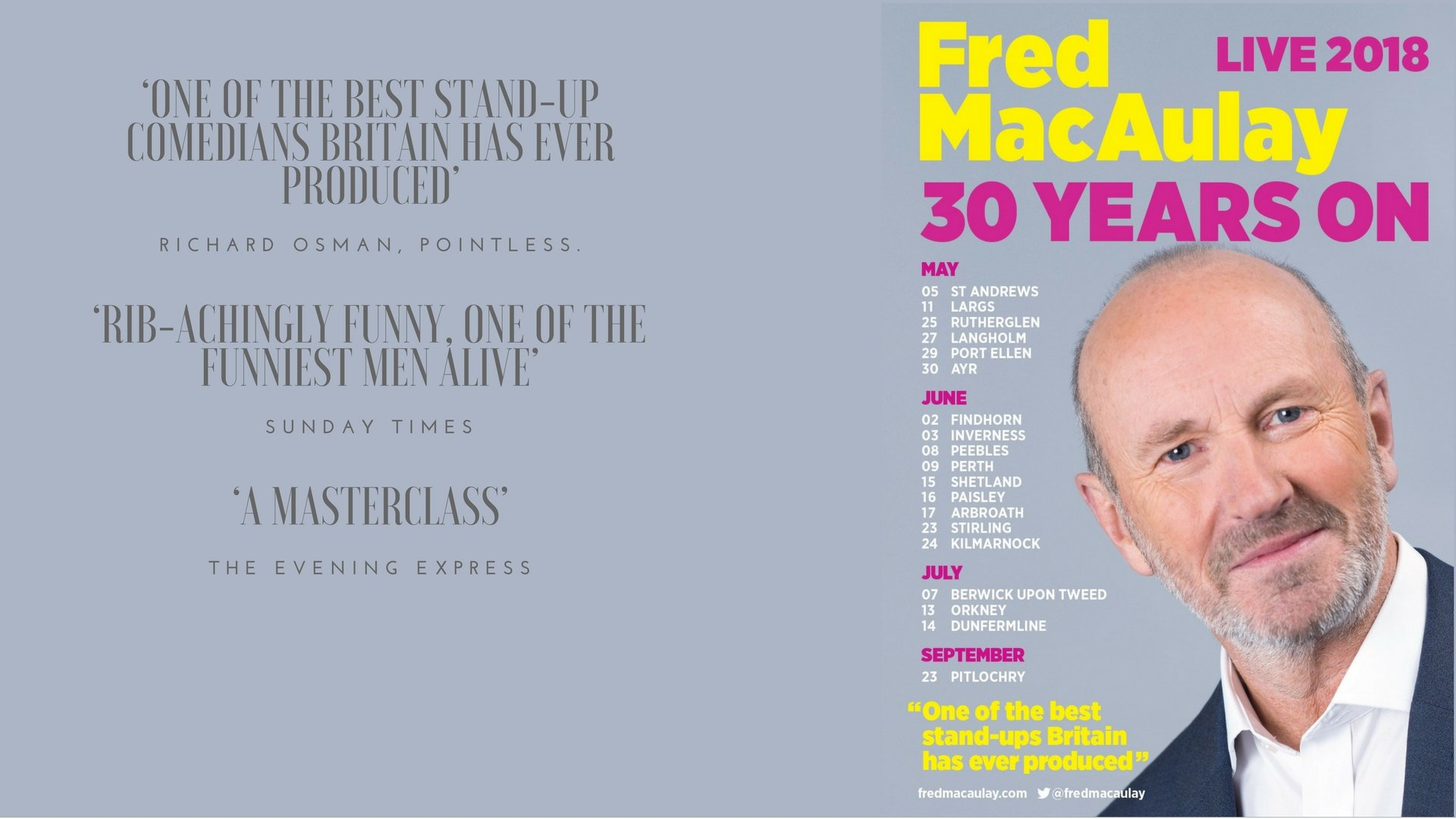 Fred MacAulay - Sun 24th June