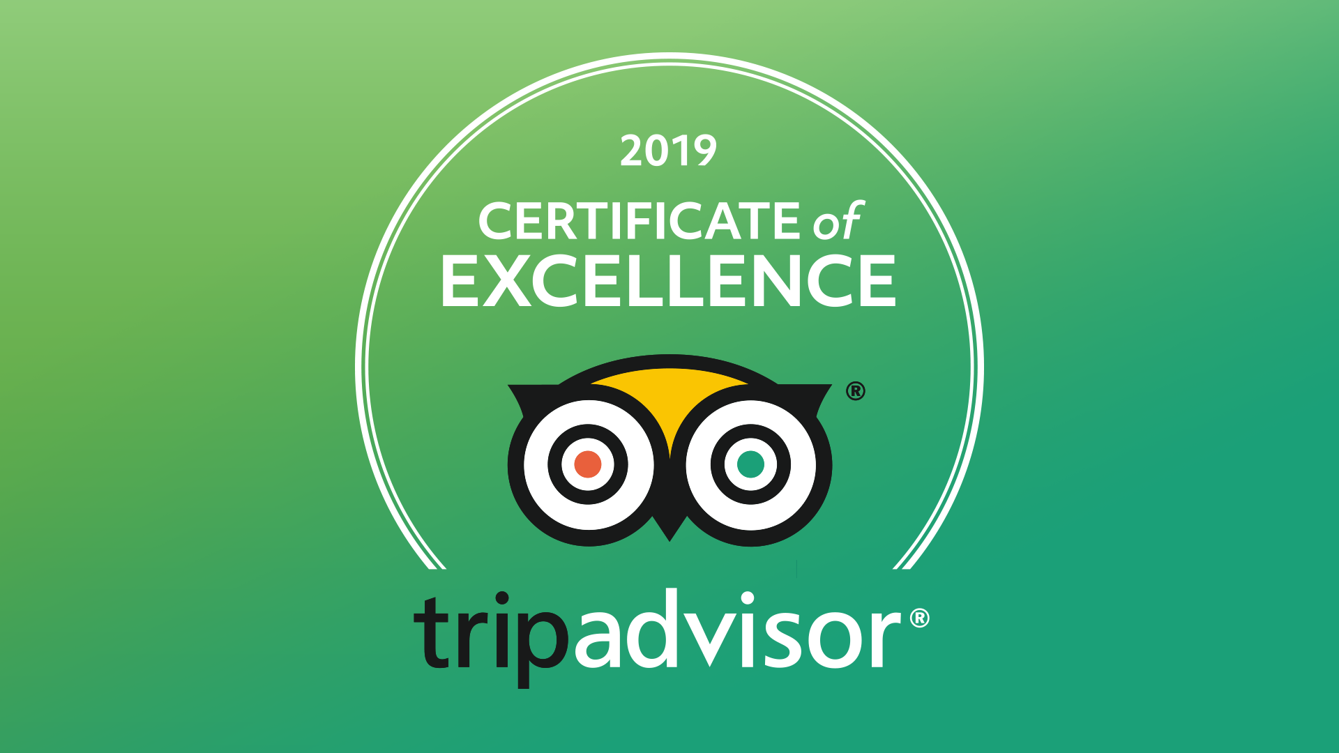 Another TripAdvisor 'Certificate of Excellence' for The Park Hotel
