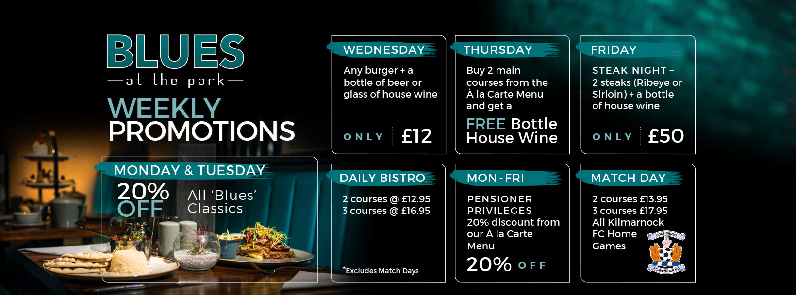 Weekly Promotions at the Park Hotel Kilmarnock